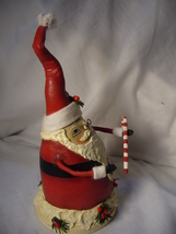 Bethany Lowe Robin Seeber Fat Santa with Candy Cane no. RS 9476 image 5