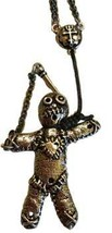 Antiqued Pewter Voodoo Doll Pendant - $45.00