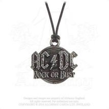 Alchemy Gothic PP502 AC/DC: Rock Or Bust Necklace Pendant - $19.77