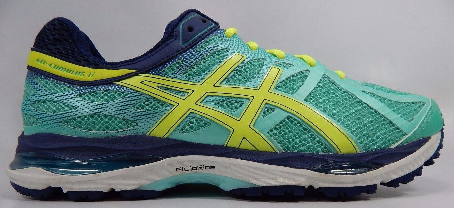 Asics Gel Cumulus 17 Women's Running Shoes Size US 12 M (B) EU 44.5 Green T5D8N