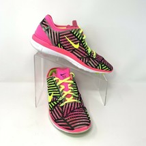 Nike Womens Free Tr Fit 5 Sneakers, Size 9, Pink, Yellow, Black - $37.01