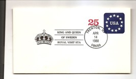 COVER - USA EVENT CANCEL - King & Queen of Sweden ROYAL VISIT 1988 - $1.38