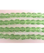 25 6 mm Czech Glass Firepolish Beads: Peridot - $1.53