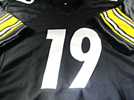 JUJU SMITH-SCHUSTER / AUTOGRAPHED PITTSBURGH STEELERS BLACK CUSTOM JERSEY / COA image 2