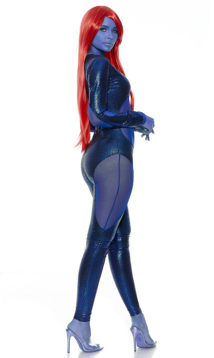 Forplay Sexy Mysterious Superhero Catsuit Adult Womens Halloween Costume 557715