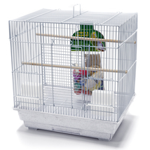 Penn Plax Bird World SMALL BIRD STARTER CAGE KIT (BCK2) White