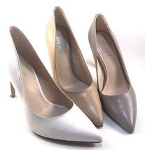 Nine West Tatiana Black Leather Pointy Stiletto Pumps Size 10 - $39.50