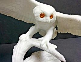 "Jonathan Bronson Figurine Snowy Owl ""Night Sentinel"" Franklin Porcelain ... - $48.37"