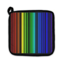 Potholder, Stripes In Rainbow Colors In Format - $27.44