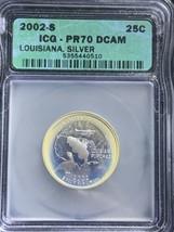 2002 S Louisiana State Quarter Silver PR70DCAM ICG Toned - $59.40