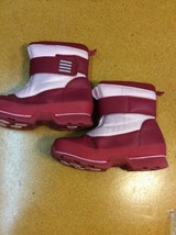 Girls Lands End Boots 5 M Snow Flurry Red Toddler - ue - $110,17 MXN