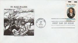 1982 FDC Dr. Mary Walker Civil War Surgeon 20c Stamp Cover Scott #2013-F... - $1.63