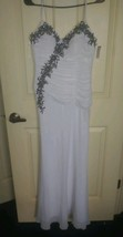Prom formal wedding Size small Long Dress White black unbranded sz 4 6 - $19.99