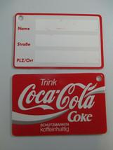 Coca-Cola NOS Trink Coca-Cola Set of 2 Luggage Tags German Plastic  - $11.88