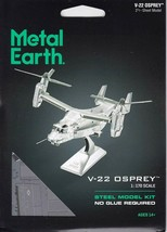 Fascinations Metal Earth V-22 Osprey Laser Cut 3D MMS212 - $14.81