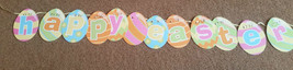 Happy Easter Egg Banner 12 eggs - Letter In Each One Saying Happy Easter... - $2.51