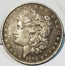 1878 7TF Rev 79 Morgan Dollar XF EF Extremely Fine 90% Silver $1 US Coin image 1