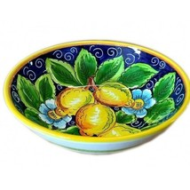 "Italian Ceramic Limoni Salad Bowl - Sberna - Made in Italy ""Lemons"" - $182.86"