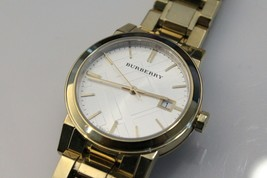 Burberry Unisex Gold Tone Stainless Steel Watch BU9103, Swiss, Sapphire ... - $149.99