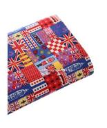 [English Hour]21'' Wide Handworked Patterned Cotton Fabric Red (17.521 I... - $14.63