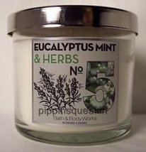 Bath and Body Works No. 5 Eucalyptus Mint & Herbs Scented Candle-4 oz. - $15.79