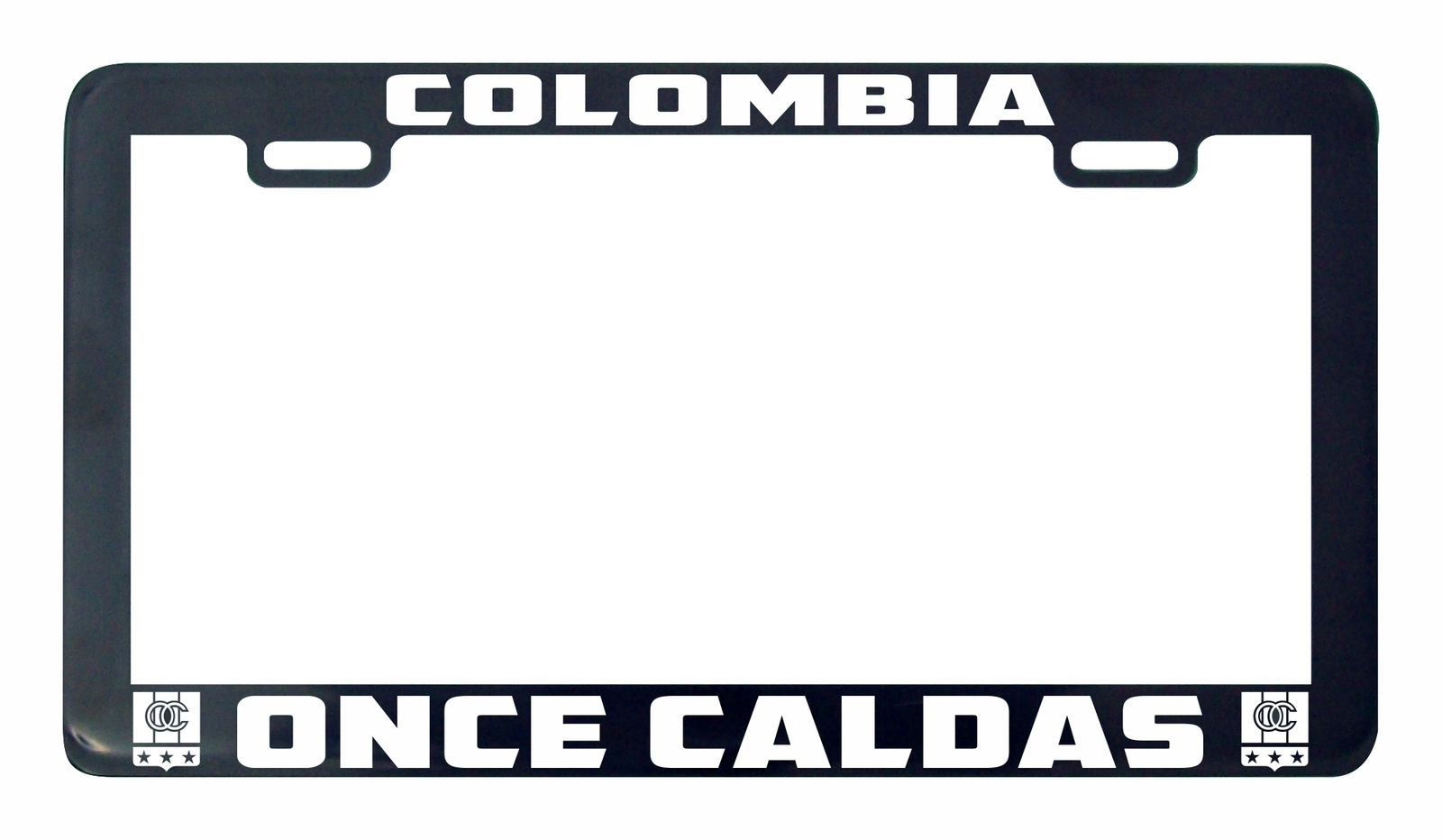 Primary image for Once Caldas Colombia futbol soccer license plate frame holder tag