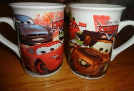 Set of 2 Cars Disney Pixar mugs collector Mater Lightning McQueen 2011 - $15.00
