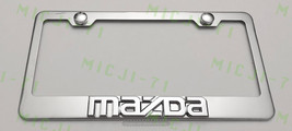 3D Mazda Stainless Steel License Plate Frame Rust Free W/ Bolt Caps - $22.99