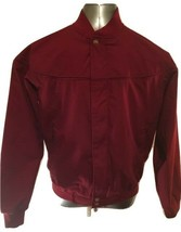 Mens Jacket Maroon Haband Derby Wind Lightweight Zipper Front SIZE S Small - $18.99