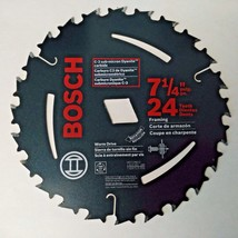 "Bosch WD724 7-1/4"" x 24 Tooth Circular Saw Blade Arbor Diamond Knockout ... - $3.96"