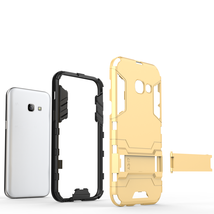 Armor Kickstand Protective Phone Cover Case for Samsung Galaxy A3 (2017) - Gold  image 5