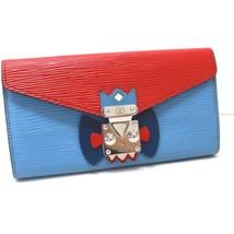 AUTHENTIC LOUIS VUITTON Epi Portefeuilles Sarah Tribal Mask Long Wallet ... - $890.00
