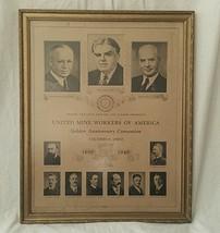 1940 UMWA Golden Anniversary Convention Poster ... - $176.22