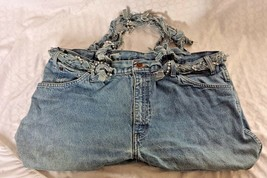 "Handmade Denim 21"" Handbag Made From Used Blues ""Dickies"" Hand Straps ~ ... - $22.76"