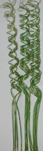UniQue Design Green Curly Glittery Spray Christmas Decoration
