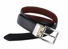 Tommy Hilfiger Men's Premium Reversible Leather Belt Black Tan 11TL08X013 image 3