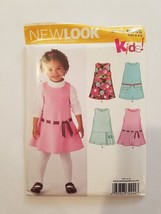 Sewing Pattern Girls Toddlers Clothing Sizes 3-8 New Look Brand #6845 Dress - $9.50