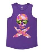 Wonder Nation Boys Tank Top LARGE H (10-12) Purple Skull Feathers Camo G... - $10.88