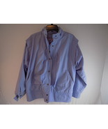 WOMEN'S Winning Edge LONDON FOG WIND BREAKER Pale Blue Jacket Size 9/10 Reg - $23.75