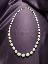 Joan Rivers Beaded Necklace White and Black Acrylic Beads Designer Signed - $34.65