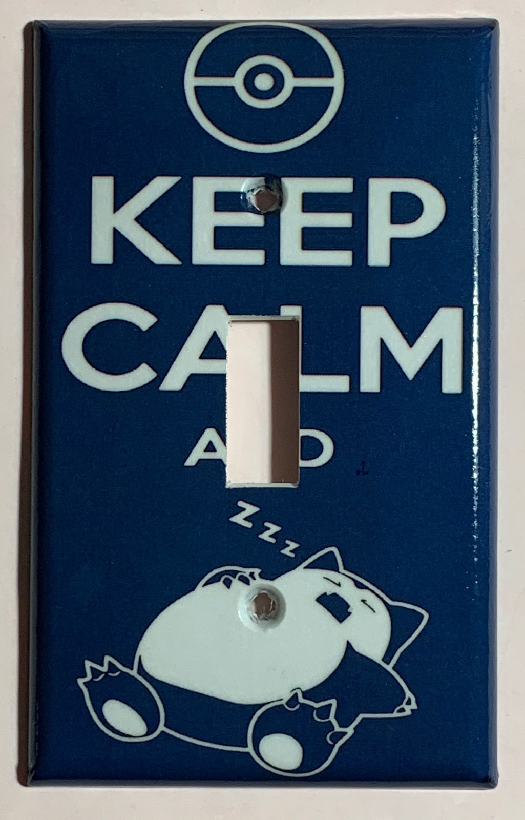 Pokemon Snorlax Calm Sleep Light Switch power Outlet Wall Cover Plate Home Decor