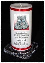 """8"""" Personalised Engagement Anniversary Candle gift present 