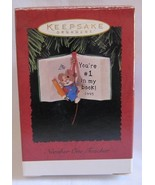 Hallmark Keepsake Ornament Number One Teacher 1995 - $6.19