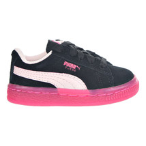 Puma Suede LFS Iced TD 363085-03 Black/Pink Toddler Shoes - $38.95