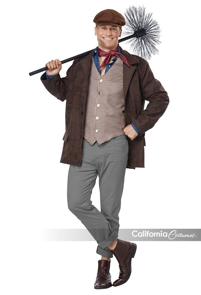 California Costumes Chimney Sweep Adult Mens Plus Christmas Xmas Costume 01794