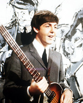 Paul Mccartney The Beatles Iconic 1960'S Color With Guitar 16x20 Canvas ... - $69.99