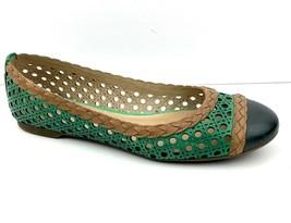 Sperry Women's Top Sider Clara Green Tan Flat Shoe Size 8M - $29.92