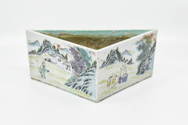 Antique Chinese Porcelain Triangular Plant Pot , 9 inches wide -  - $321.75
