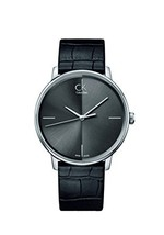 Calvin Klein K2y2x1c3 Men Accent Leather Black Watch - $240.25