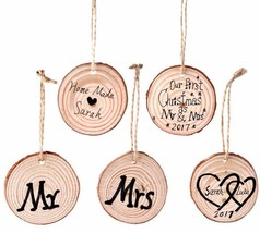 Wooden Pendant 50Pcs Diy Ornaments Wood Crafts Wedding Birthday Home Dec... - $29.99